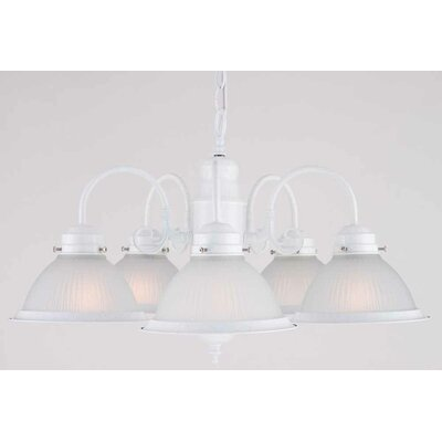Roth 5-Light Shaded Chandelier Finish: Textured White