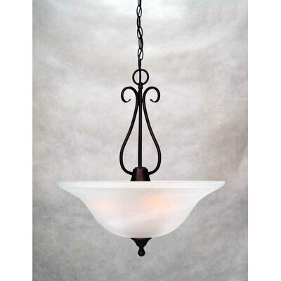 Minster 3-Light Bowl Pendant Finish: Antique Bronze