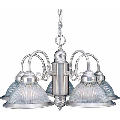 Roth 5-Light Shaded Chandelier Finish: Brushed Nickel