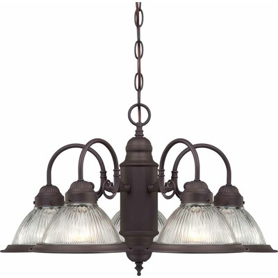 Roth 5-Light Shaded Chandelier Finish: Antique Bronze