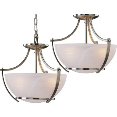 Durango 3-Light Pendant or Semi Flush Mount Finish: Brushed Nickel