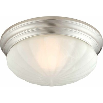 1-Light Ceiling Fixture Flush Mount Size: 7.25 H x 11 W x 11 D, Finish: Brushed Nickel