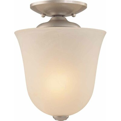 Hammond 1-Light Bowl Pendant or Semi Flush Mount Finish: Nickel