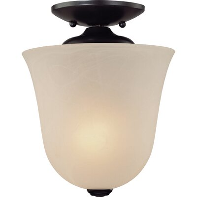 Kim 1-Light Bowl Pendant or Semi Flush Mount Finish: Antique Bronze