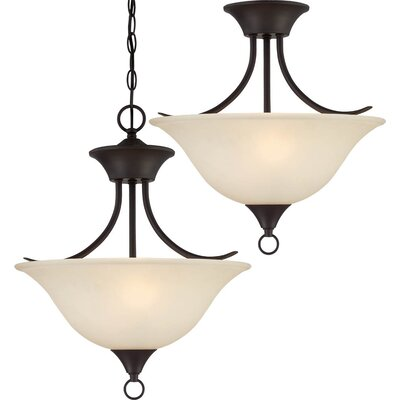 Trinidad 2-Light Pendant or Semi Flush Mount