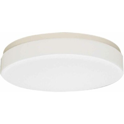 2-Light Ceiling Fixture Flush Mount Size: 4 H x 18 W x 18 D