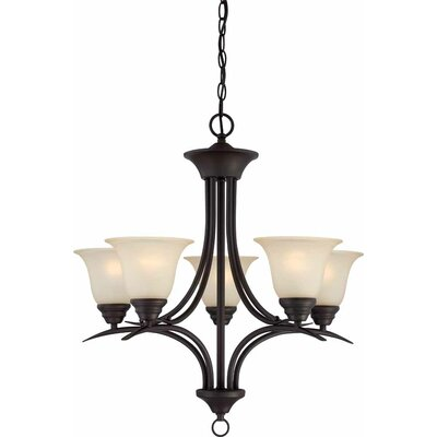 Whetsel 5-Light Shaded Chain Chandelier
