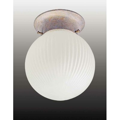 Roth 1-Light Ceiling Fixture Flush Mount Finish: Prairie Rock