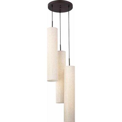 Jannon 6-Light Pendant Finish: Brushed Nickel, Shade Color: White