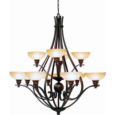 Rainier 12-Light Candle-Style Chandelier