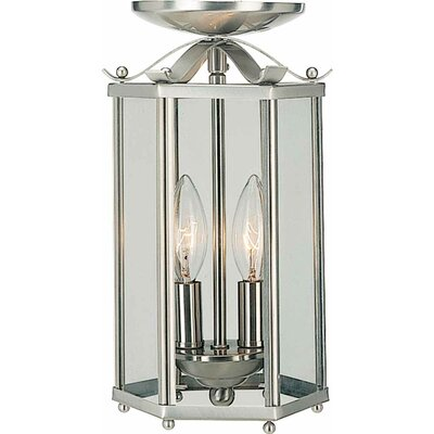 2-Light Pendant or Semi Flush Mount
