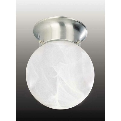 Minster 1-Light Ceiling Fixture Flush Mount Finish: Brushed Nickel