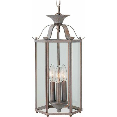 Roth 3-Light Pendant or Semi Flush Mount Finish: Prairie Rock