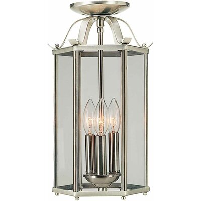 Roth 3-Light Pendant or Semi Flush Mount Finish: Brushed Nickel