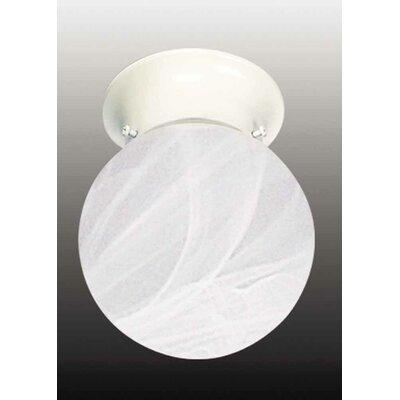 Minster 1-Light Ceiling Fixture Flush Mount Finish: White