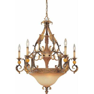 Venetian 5-Light Candle-Style Chandelier