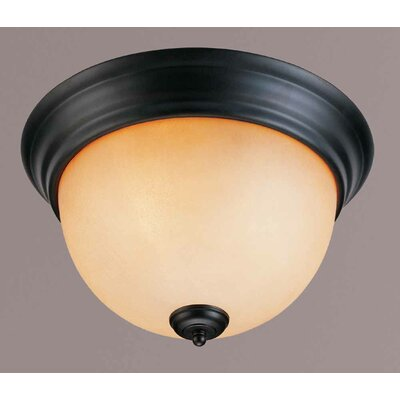 Rainier 2-Light Ceiling Fixture Flush Mount