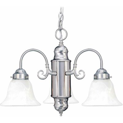 Marti 3-Light Shaded Chandelier Finish: Brushed Nickel