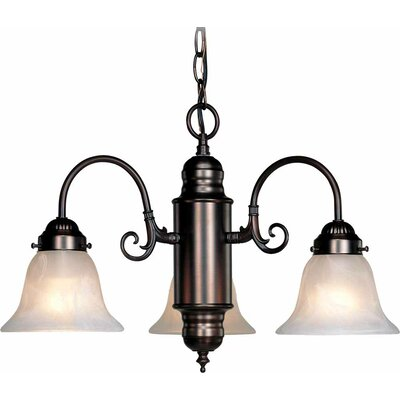 Emington 3-Light Shaded Chandelier Finish: Antique Bronze