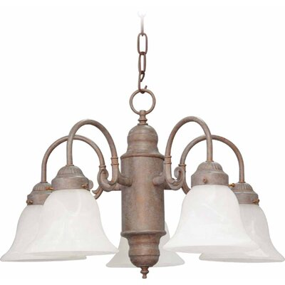 Emington 5-Light Shaded Chandelier Finish: Prairie Rock