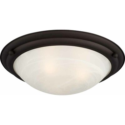Lunar 4-Light Flush Mount Fixture Finish: Antique Bronze
