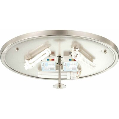 Esprit 3-Light Flush Mount Finish: Brushed Nickel