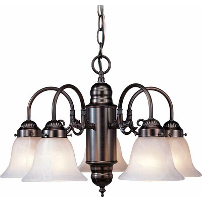 Marti 5-Light Shaded Chandelier Finish: Antique Bronze