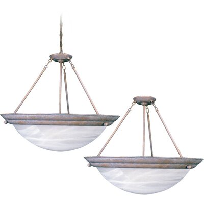 Lunar 3-Light Pendant or Semi Flush Mount Finish: Prairie Rock