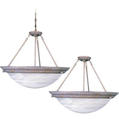 Lunar 4-Light Semi Flush Mount Fixture Finish: Prairie Rock, Bulb Type: Compact fluorescent (CFL)