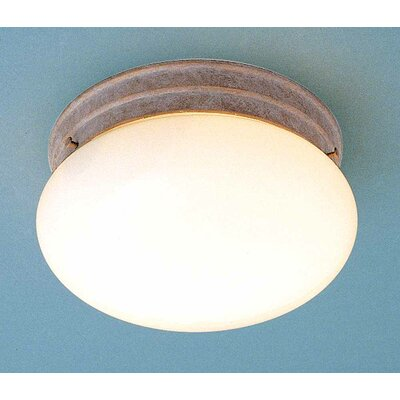 2-Light Ceiling Fixture Flush Mount Finish: Prairie Rock