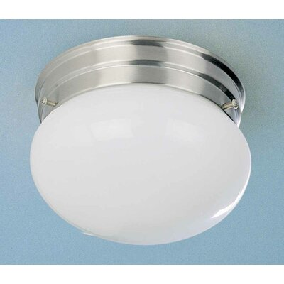 1-Light Ceiling Fixture Semi Flush Mount Finish: Brushed Nickel