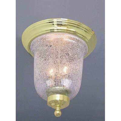 Rhodes 2-Light Ceiling Fixture Flush Mount Finish: Polished Brass