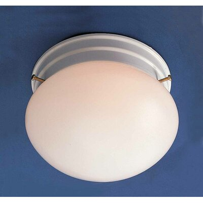1-Light Ceiling Fixture Semi Flush Mount Finish: White