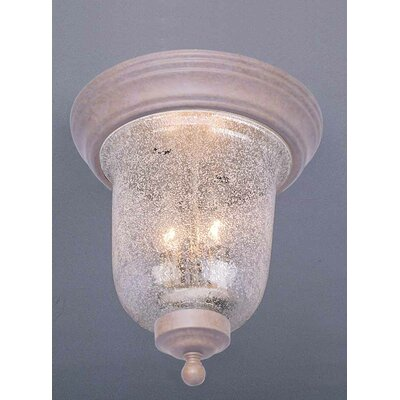 Rhodes 2-Light Ceiling Fixture Flush Mount Finish: Prairie Rock