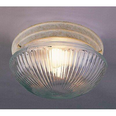 1-Light Ceiling Fixture Flush Mount Finish: Prairie Rock