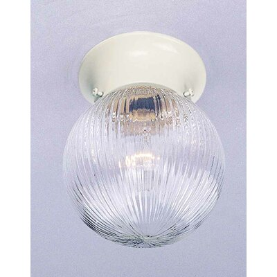 Roth 1-Light Ceiling Fixture Flush Mount Finish: White