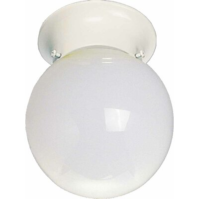 1-Light Ceiling Fixture Flush Mount Finish: White