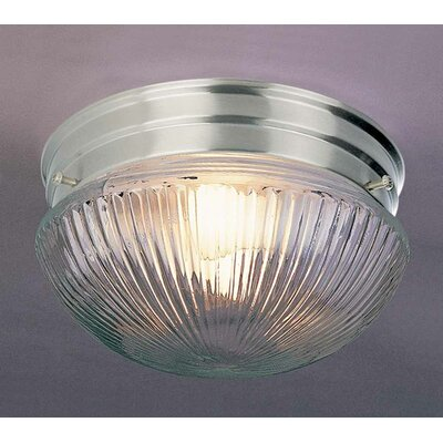 1-Light Ceiling Fixture Flush Mount Finish: Brushed Nickel