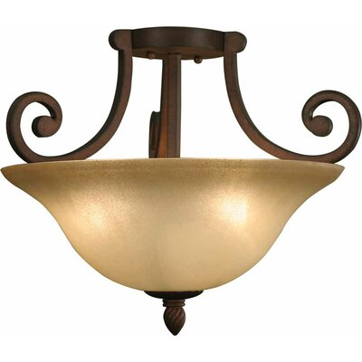 Isabela 3-Light Semi Flush Mount