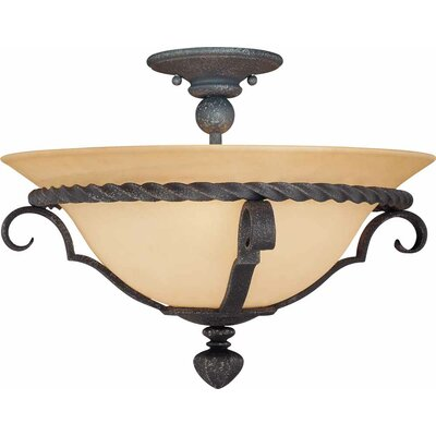Sevila 3-Light Semi Flush Mount