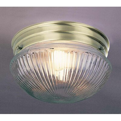 1-Light Ceiling Fixture Flush Mount Finish: Antique Brass