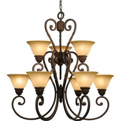 Isabela 9-Light Shaded Chandelier
