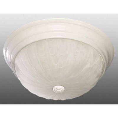 Emington 2-Light Ceiling Fixture Flush Mount Finish: White