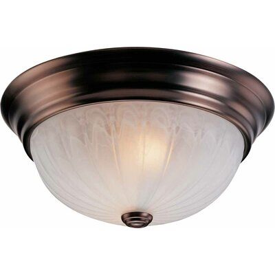 Emington 2-Light Ceiling Fixture Flush Mount Finish: Antique Bronze