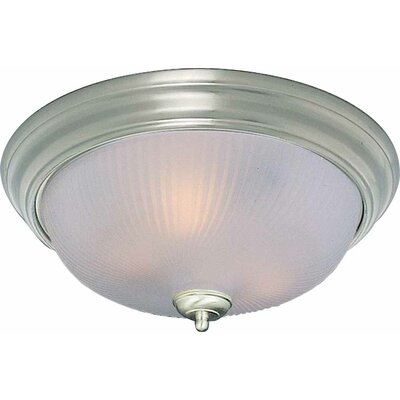 1-Light Ceiling Fixture Flush Mount Size: 5.75 H x 11 W x 11 D, Finish: Brushed Nickel