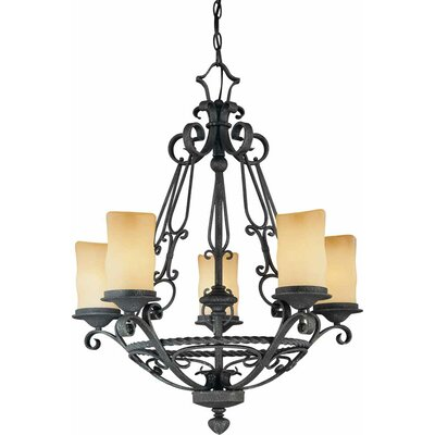 Sevila 5-Light Shaded Chandelier