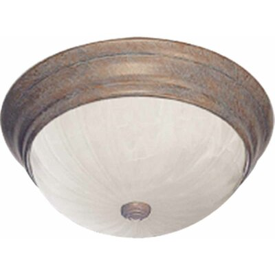 Emington 2-Light Ceiling Fixture Flush Mount Finish: Prairie Rock