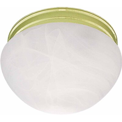 Minster 1-Light Ceiling Fixture Semi Flush Mount Finish: Polished Brass