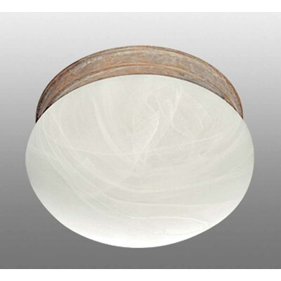 Minster 2-Light Ceiling Fixture Flush Mount Finish: Prairie Rock
