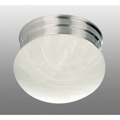 Minster 2-Light Ceiling Fixture Flush Mount Finish: Brushed Nickel